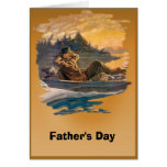 Father's day - A day's fishing Greeting Card