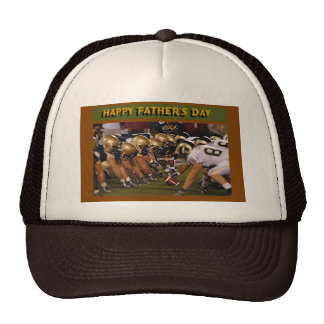 Father's Day American Football Mesh Hats