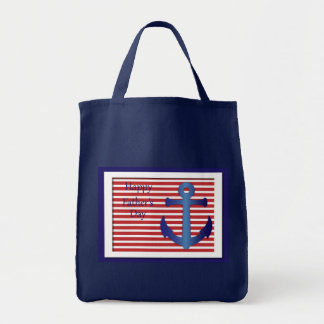 Father's Day Anchor Nautical Grocery Tote Bag