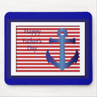 Father's Day Anchor Nautical Mouse Mat