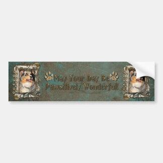 Fathers Day - Australian Shepherd - Dustine Bumper Sticker