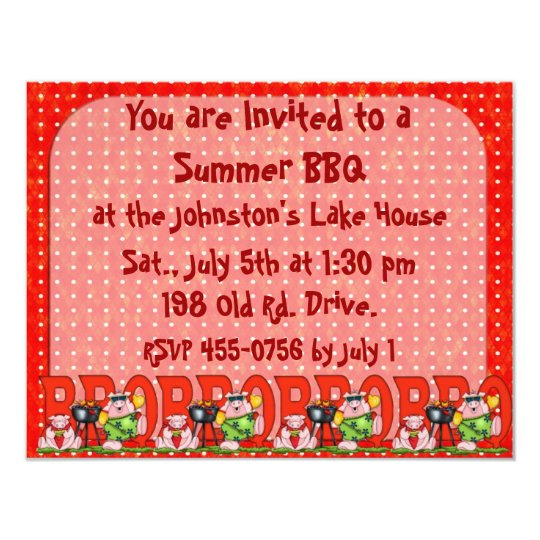 Father's Day BarBQ invitation Family reunion