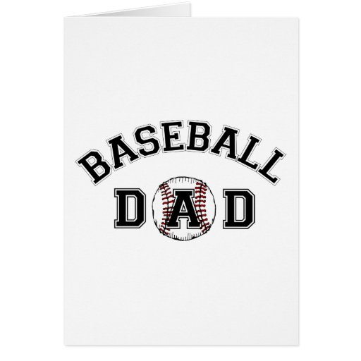 Father's Day Baseball Dad Card
