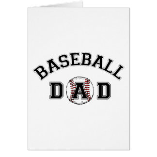 Father's Day Baseball Dad Greeting Card