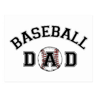 Father's Day Baseball Dad Postcard