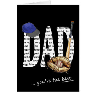 Father's Day Baseball Greeting Card