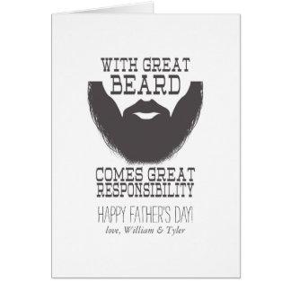 Father's Day Beard Card