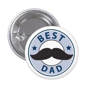 Father's Day Best Dad 3 Cm Round Badge