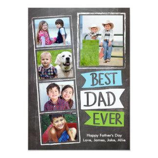 Father's Day Best Dad Ever Flags 13 Cm X 18 Cm Invitation Card