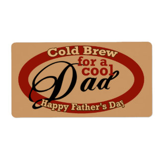 Father's Day Beverage or Beer Bottle Label Shipping Label
