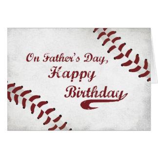 Father's Day Birthday Large Grunge Baseball, Sport Card