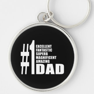 Fathers Day Birthdays Christmas Number One Dad Keychains