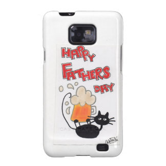 Fathers Day black cat Samsung Galaxy S2 Cover
