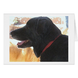 Father's Day - Black Labrador Dog Lover Greeting Card
