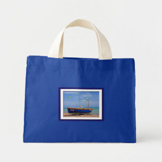 Father's Day Blue Boat Bags