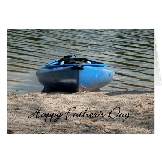 Father's Day Blue Kayak Card