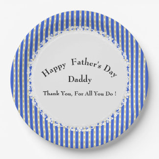 Father's-Day-Boat-Decking-Celebration-Template 9 Inch Paper Plate