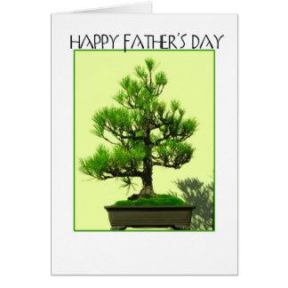 Father's day bonsai card