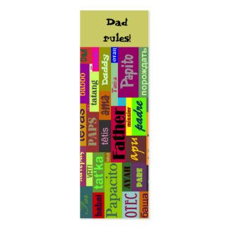Father's Day Bookmark Business Cards