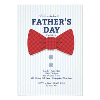 Father's Day Bow Tie Invitation