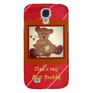 Father's Day Brown Bear Family Best Buddies Samsung Galaxy S4 Covers