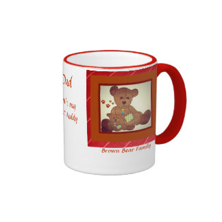 Father's Day Brown Bear Family Best Buddies Coffee Mugs