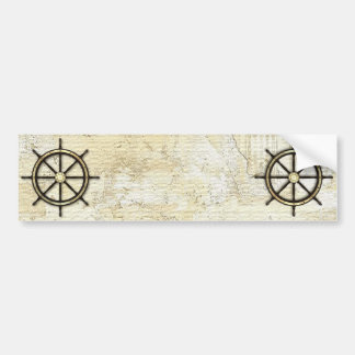 Fathers Day - Captains Wheel Bumper Sticker