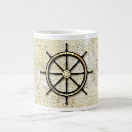 Fathers Day - Captains Wheel Extra Large Mugs