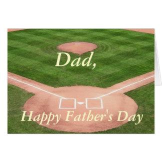 Father's Day Card--Baseball Diamond Card