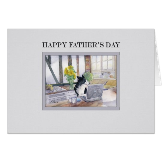 Fathers Day card - Border Collie dog on