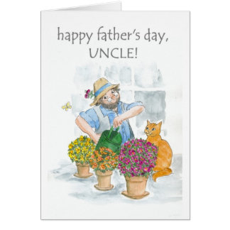 Father's Day Card for an Uncle - Jolly Gardener