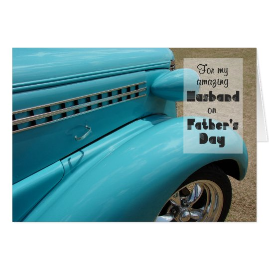 Father's Day Card for Husband - Hot Rod