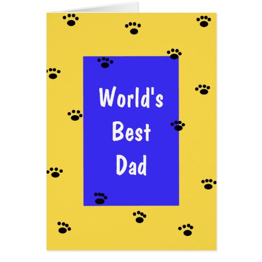 Fathers Day Card from Dog