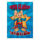Father's Day Card - Super Grandad Mouse - One In A