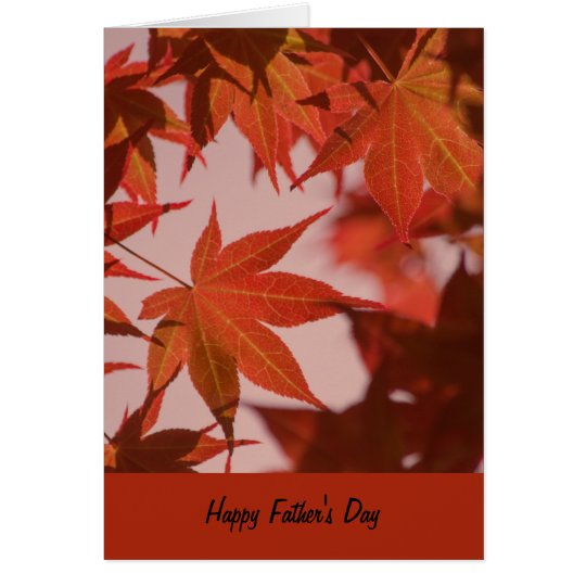 Father's Day Card, vibrant maple leaves Card