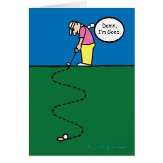 Father's Day card with golfer illustration