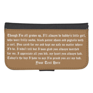 Fathers Day Case Wallet Galaxy S4 IP 5/5s Galaxy S4 Wallets