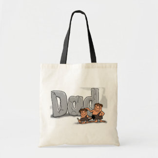 Fathers Day Caveman Dad Budget Tote Bag