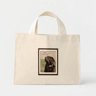 Father's Day Chocolate Brown Labrador Dog Mini Tote Bag