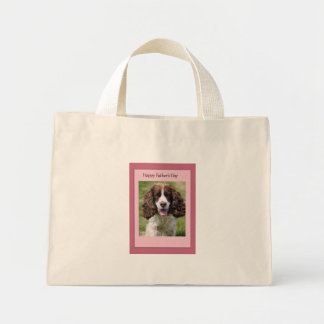 Father's Day Cocker Spaniel Dog Tote Bags