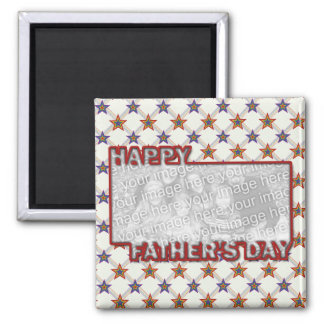 Fathers Day Cut Out ADD YOUR PHOTO Field of Stars Fridge Magnets