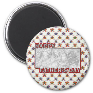 Fathers Day Cut Out ADD YOUR PHOTO Field of Stars Fridge Magnet