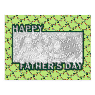 Fathers Day Cut Out ADD YOUR PHOTO Frogs Postcard