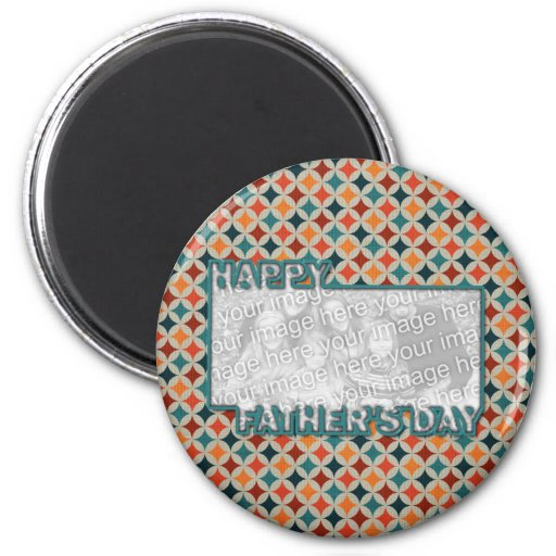 Fathers Day Cut Out ADD YOUR PHOTO Jewel Stars Refrigerator Magnets