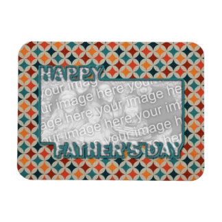 Fathers Day Cut Out ADD YOUR PHOTO Jewel Stars Rectangular Photo Magnet