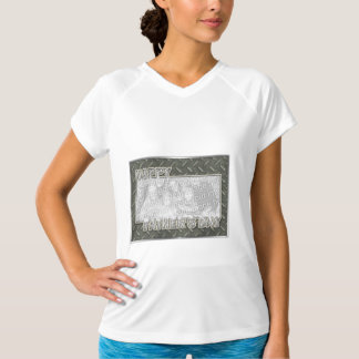 Fathers Day Cut Out ADD YOUR PHOTO Metal Grid Tshirt
