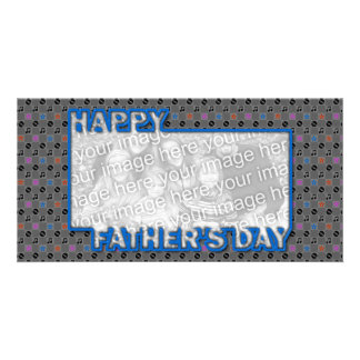 Fathers Day Cut Out ADD YOUR PHOTO Music Photo Card Template