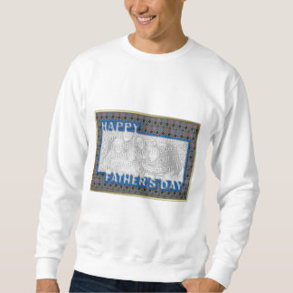 Fathers Day Cut Out ADD YOUR PHOTO Music Sweatshirt