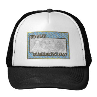 Fathers Day CutOut ADD YOUR PHOTO Polka Dot Father Hats