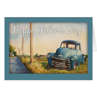 Father's Day, Dad, Blue Truck Greeting Card